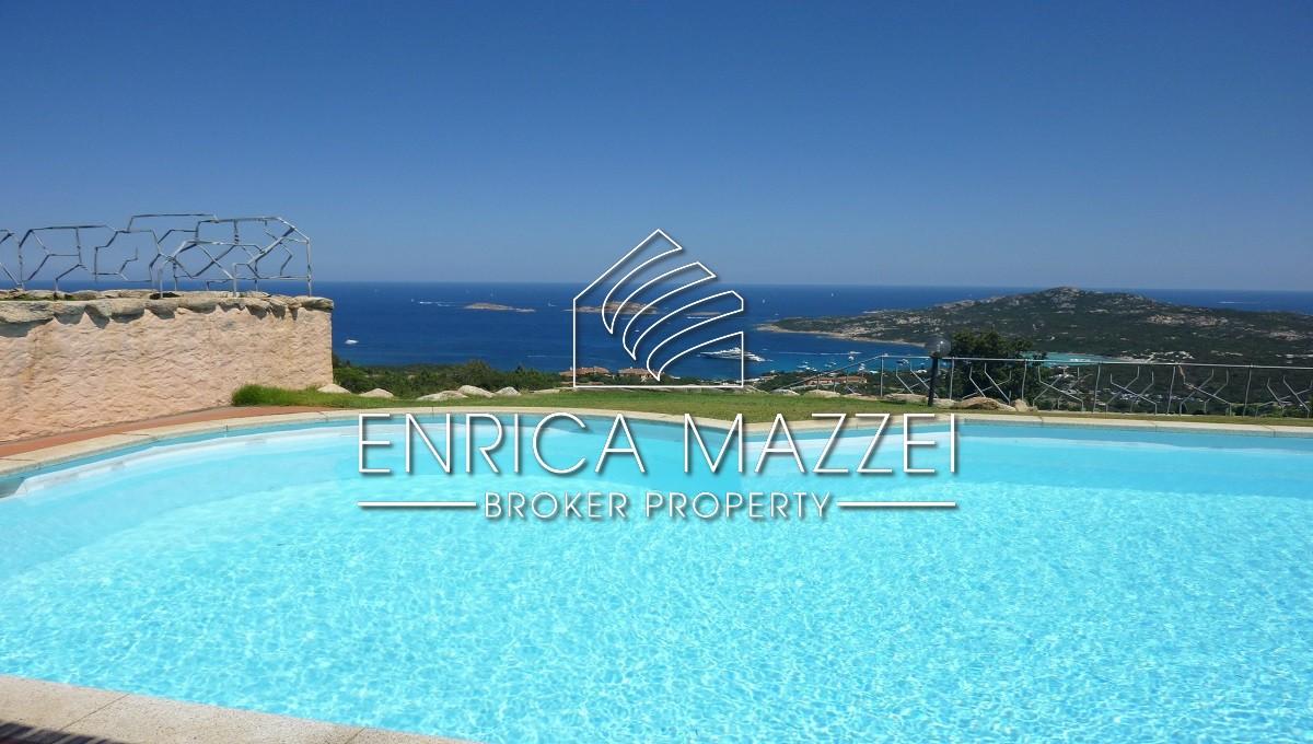 Costa Smeralda ampia villa | incantevole vista mare piscina