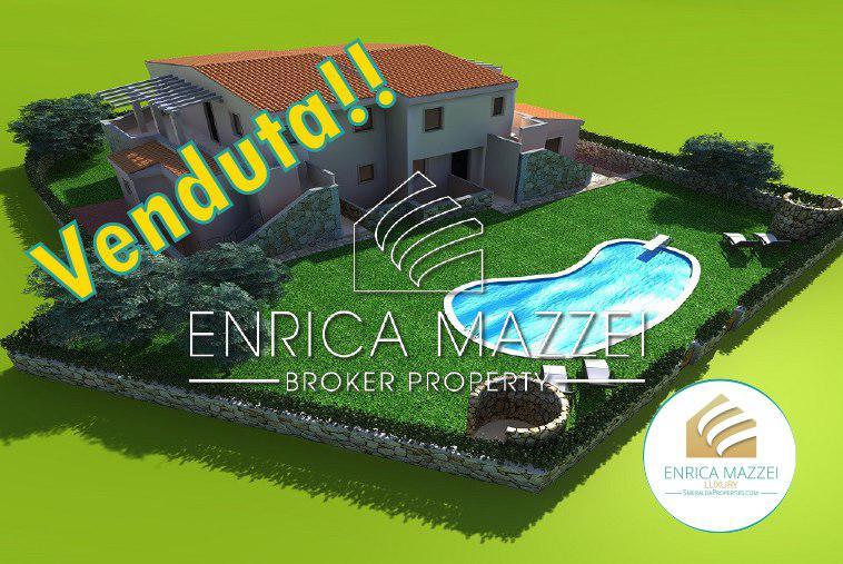 VENDUTO Costa Smeralda villa con giardino vista mare