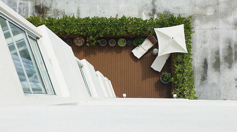 Privacy in balcone siepe