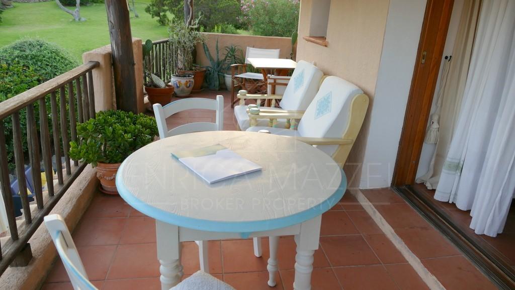 Porto Cervo casa vacanza con accesso diretto  alla spiaggia veranda