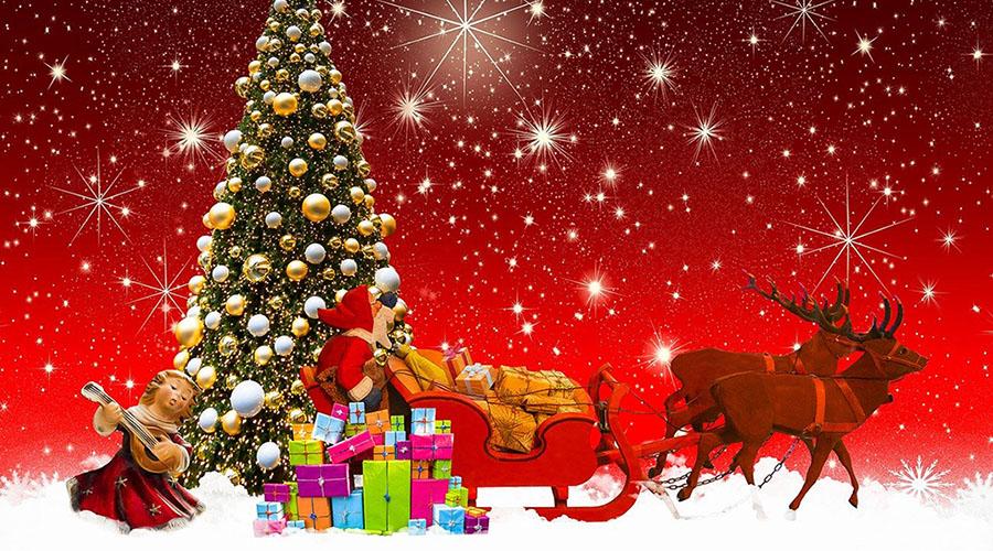 Vigilia di Natale renne albero